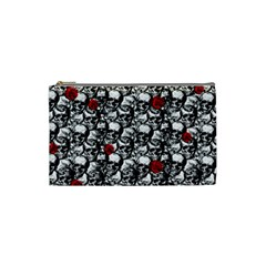 Skulls and roses pattern  Cosmetic Bag (Small)