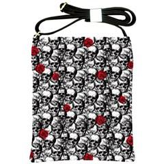 Skulls and roses pattern  Shoulder Sling Bags