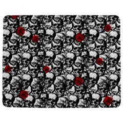 Skulls and roses pattern  Jigsaw Puzzle Photo Stand (Rectangular)