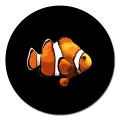 Clown fish Magnet 5  (Round)