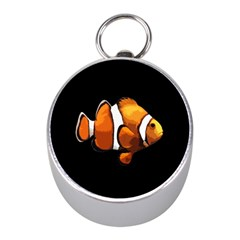 Clown fish Mini Silver Compasses