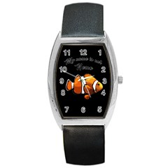 Clown fish Barrel Style Metal Watch