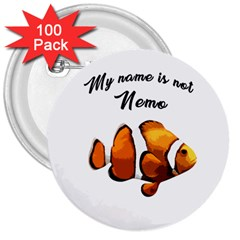 Clown fish 3  Buttons (100 pack)