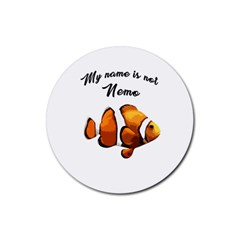 Clown fish Rubber Round Coaster (4 pack)