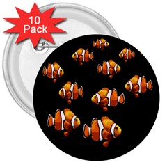 Clown fish 3  Buttons (10 pack)