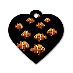 Clown fish Dog Tag Heart (Two Sides)