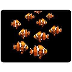 Clown fish Fleece Blanket (Large)