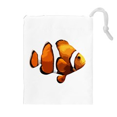 Clown fish Drawstring Pouches (Extra Large)