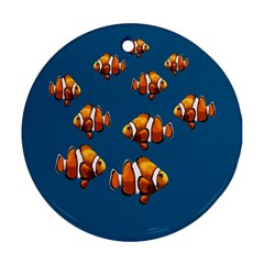 Clown fish Round Ornament (Two Sides)