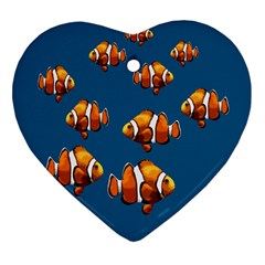 Clown fish Heart Ornament (Two Sides)