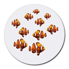 Clown fish Round Mousepads