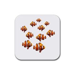 Clown fish Rubber Coaster (Square)