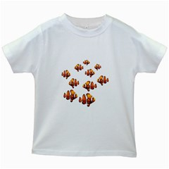 Clown fish Kids White T-Shirts
