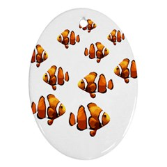 Clown fish Oval Ornament (Two Sides)