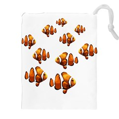 Clown fish Drawstring Pouches (XXL)