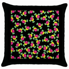 Candy Pattern Throw Pillow Case (black)