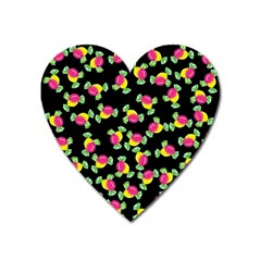 Candy pattern Heart Magnet