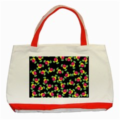 Candy Pattern Classic Tote Bag (red)