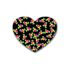 Candy pattern Rubber Coaster (Heart)