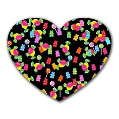 Candy pattern Heart Mousepads