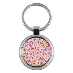 Candy pattern Key Chains (Round)