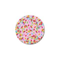 Candy pattern Golf Ball Marker