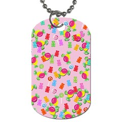 Candy pattern Dog Tag (Two Sides)