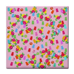 Candy pattern Face Towel