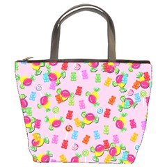 Candy pattern Bucket Bags