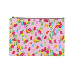 Candy pattern Cosmetic Bag (Large)