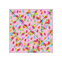 Candy pattern Acrylic Tangram Puzzle (4  x 4 )