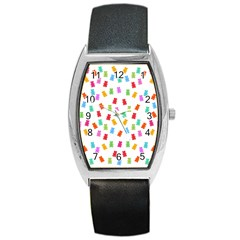 Candy pattern Barrel Style Metal Watch