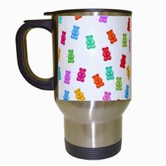 Candy pattern Travel Mugs (White)