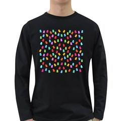 Candy pattern Long Sleeve Dark T-Shirts