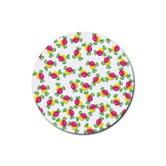 Candy pattern Rubber Round Coaster (4 pack)