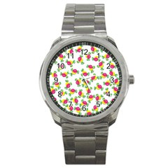Candy pattern Sport Metal Watch
