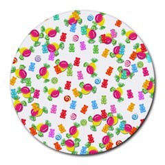 Candy pattern Round Mousepads
