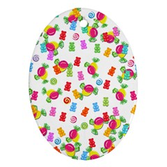 Candy pattern Ornament (Oval)