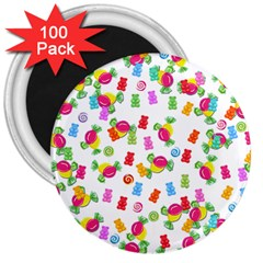 Candy pattern 3  Magnets (100 pack)
