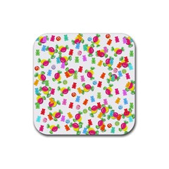 Candy pattern Rubber Coaster (Square)