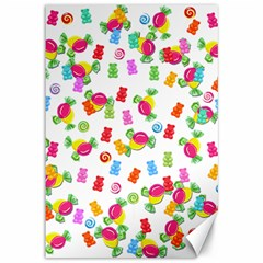Candy pattern Canvas 12  x 18