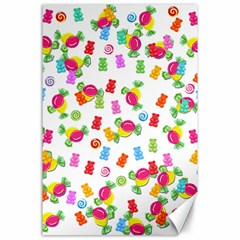 Candy pattern Canvas 24  x 36
