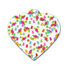 Candy pattern Dog Tag Heart (Two Sides)