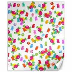 Candy pattern Canvas 11  x 14