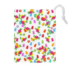 Candy pattern Drawstring Pouches (Extra Large)