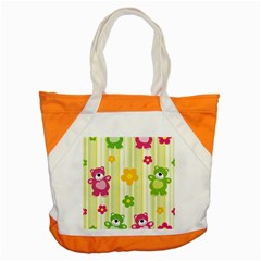 Animals Bear Flower Floral Line Red Green Pink Yellow Sunflower Star Accent Tote Bag