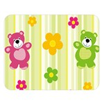 Animals Bear Flower Floral Line Red Green Pink Yellow Sunflower Star Double Sided Flano Blanket (Large)   Blanket Back