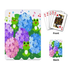 Animals Frog Face Mask Green Flower Floral Star Leaf Music Playing Card
