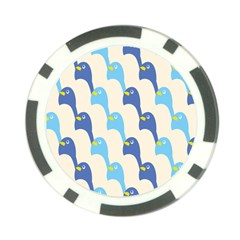 Animals Penguin Ice Blue White Cool Bird Poker Chip Card Guard