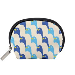 Animals Penguin Ice Blue White Cool Bird Accessory Pouches (Small)